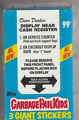 1986 Topps Garbage Pail Kids Giant Stickers Blue Box with 72 packs RARE! Orig.