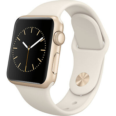 LN APPLE WATCH 38mm Rose Gold Series 1 - WHITE Band AND MAGNETIC Band - w/Box!