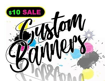 3'FT x 6'FT Customized Vinyl Sign Banner! Real Life PHOTO PROOFS! FREE SHIPPING