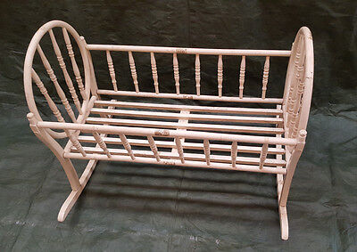"Antique (late 1800's) Bentwood cradle 40"" long  x 31"" wide x 30"" high"