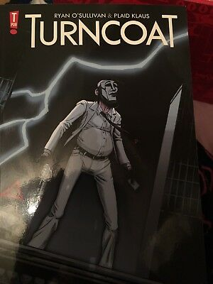"""TURNCOAT"" GRAPHIC NOVEL by ryan o'sullivan & plaid klaus superhero"