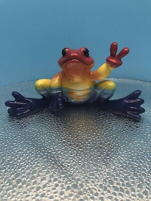 "New Peace Frogs ""Sunset Frog"" Ceramic Figurine By Westland Giftware No.18819"
