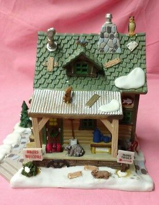 "Lemax Vail Village  collection. "" Hiker's  Cabin """