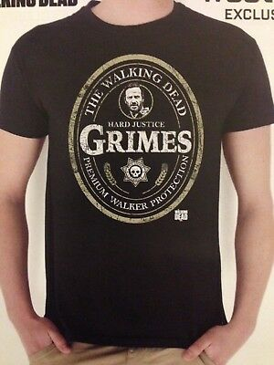 T-shirt - THE WALKING DEAD - Hard Justice Grimes (taille M, neuf)