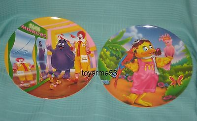Mcdonalds Grimace Ronald Nuggets Birdie Plate Fun Mirrors Melamine 1993 1996 New