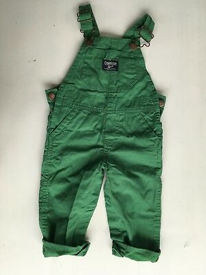 Oshkosh green dungarees 12 months excellent condition