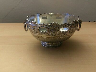 "FB Rogers Ornate Silverplate Candy Dish Bowl 4 1/4"" x 5 1/4"""