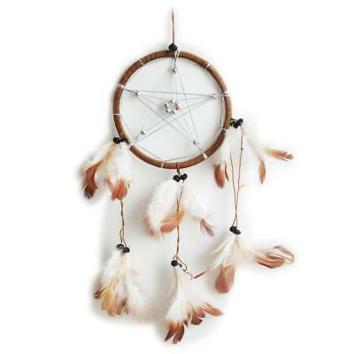 AND-8320-1 Dreamcatcher - Attrape rêve - Petit Modèle - Pentagramme Marron