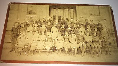 Rare Antique Victorian American School Class, Boston, MA C.1870's Cabinet Photo!