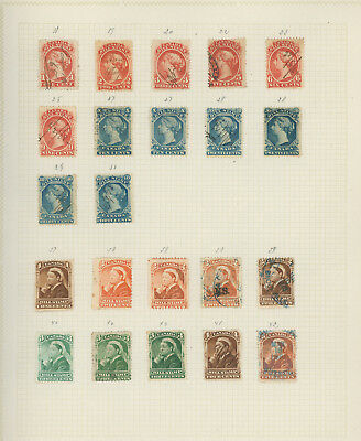 Canada and Provinces very nice collection of REVENUE STAMPS on old pages, great