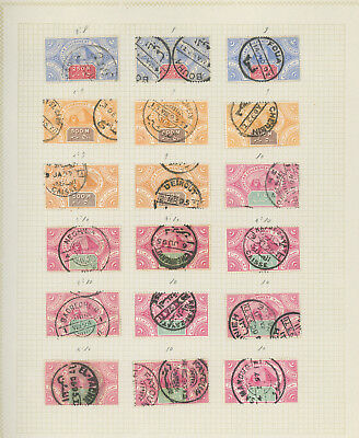 Egypt nice collection of REVENUE STAMPS on old album pages, scarce, inspect
