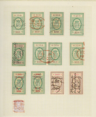 Macau exquisite collection of REVENUE STAMPS on old album page, magnificent