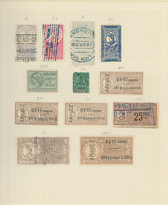 Indochina and Cochinchina very nice collection of REVENUE STAMPS, scarce items