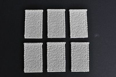 N Gauge/Scale Model Railway Random Stone Retaining Walls x 6