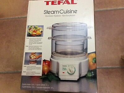 Tefal Steam Cuisine Food Steamer And Rice Cooker Boxed With Instructions