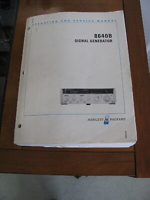 ORIGINAL Hewlett Packard HP 8640B Operating and Service Manual - Complete