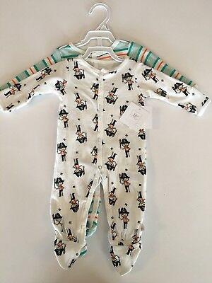 Rosie Pope Baby sleeper set, 3/6 months, Pirates and Green Stripes