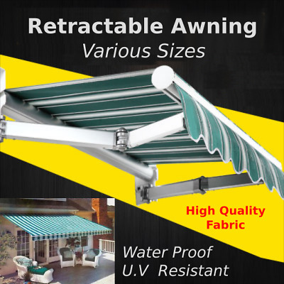 Awning Strong Retractable Folding Arm Awning 4m/3m/2.5m Sun Shade VIC Pickup