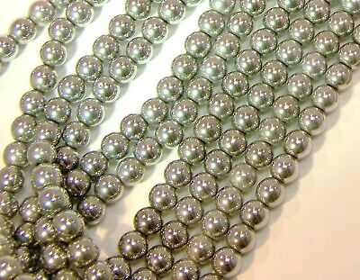 Silver Magnetic Hematite Beads 4mm GRADE A Therapeutic Healing Jewelry Supplies