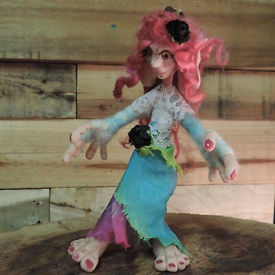 Elvira the fully poseable Gnome ooak doll. fantasy creatures troll fairy pixie