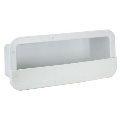 Boat Side Pocket Marine Storage Side Pocket White Rectangular PVC NEW