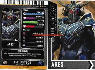 Injustice Arcade Dave and Busters Gold Card 52 Ares NONFOIL