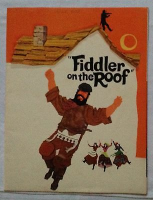 Fiddler on the Roof 1972 Movie Souvenir Program Comedy- stars Topo United Artist