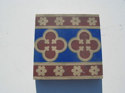 Antique Minton & Co patent Stoke upon Trent Tile # 1