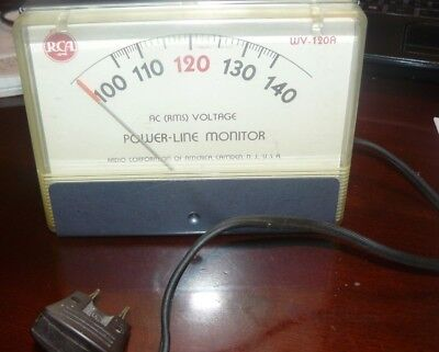 RCA POWER-LINE MONITOR  MODEL WV-120 A  TESTED Electronic Meter Gauge