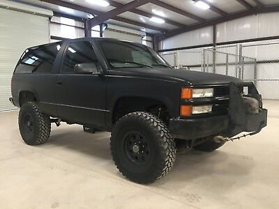 1999 Chevrolet Tahoe  chevrolet 2 door tahoe 4x4 lifted 4wd 5.7 rare warn winch rough country procomp
