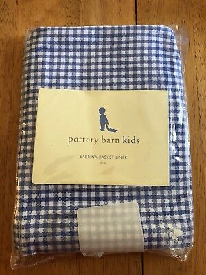 Pottery Barn Kids Sabrina Basket Large Liner Blue Check Gingham
