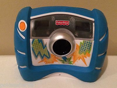 Fisher Price Kid Tough Blue Digital Camera 4X Zoom V2751 V2752 with Batteries