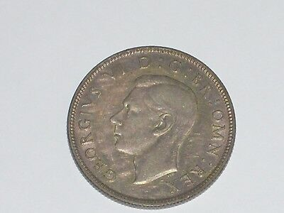 Great Britain 1941 Two Shilling  Coin Georgivs VI D G BR OMN REX
