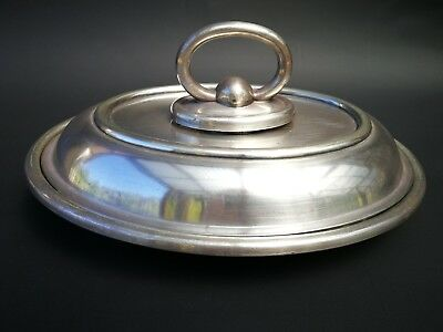 WALKER & HALL antique Silver Plate dish with lid  c1905-1910