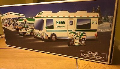 Never opened! 1998 Hess Truck Recreation Van with Dune Buggy and Motorcycle