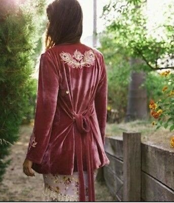 FRIDAY I'M IN LOVE PINK VELVET ~ Take Me To Breakfast Jacket ~ NWT~ RARE!!!!!