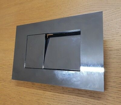 Vola A85 Dual Flush Plate,Chrome and stainless steel