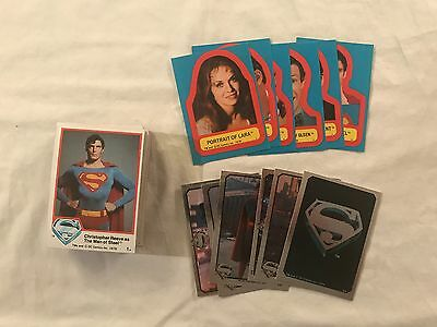 1978 Topps Superman the Movie Series 1 Trading Card Set W/Stickers