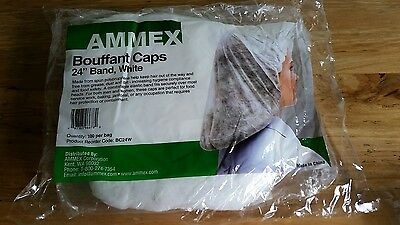 Hair Nets Bouffant Caps Disposable for Kitchen, Food, & Medical Workers 300 Pcs