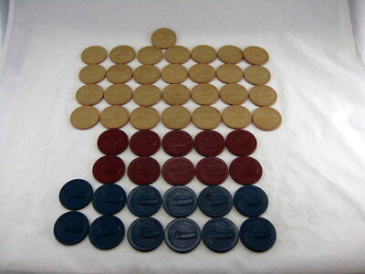 Lot of 51 VTG Clay Poker Chips Speed Boat Motorboat Chris Craft Wood Boat