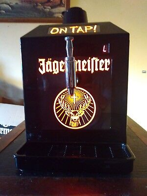 Jagermeister 3 Bottle Tap Machine Jager Chilled Shots Man Cave Bar Lighted