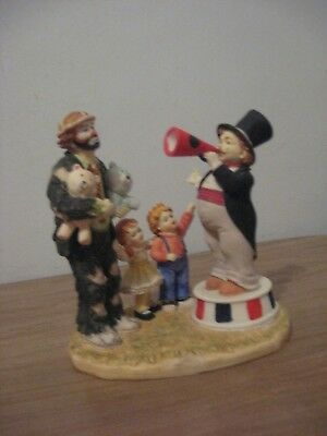 Flambro Day At The Fair Step Right Up Signed Emmett Kelly Jr.  #0614 Figurine