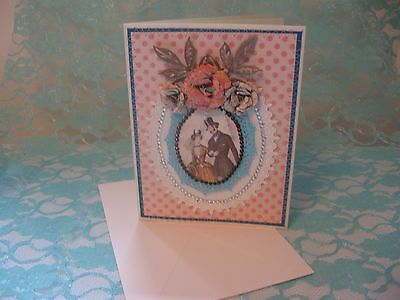Handmade Greeting Card Engagement Wedding Handcrafted by CHRIS
