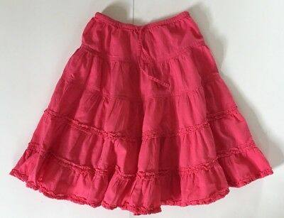 Mini Bode Girl's Size 7-8 Pink/Coral Twirl Skirt (619)