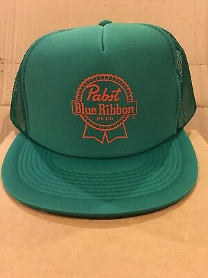Pabst Blue Ribbon trucker hat Snapback Pbr Beer - green