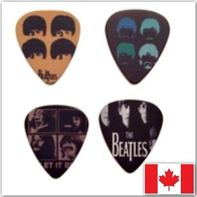 The Beatles 4 Guitar Picks Lot Collection! The Beatles 4 Collectable Pic Plectre