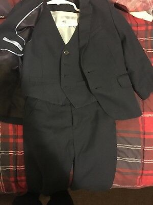 H&M Boy 3 Piece Suit 3-4y