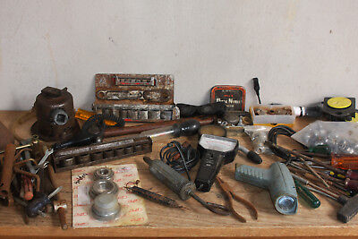 Old Mechanical Stuff, Timing Light Rev Gauge Hand Tools Sockets Old Jack