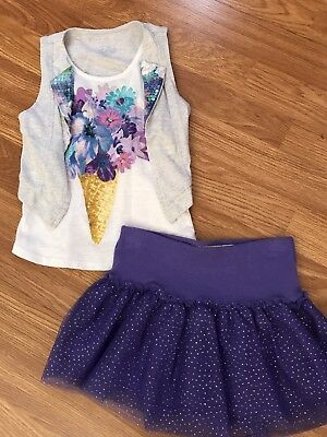 Girls Pretty JUSTICE Spring lot/oufit! Size 6