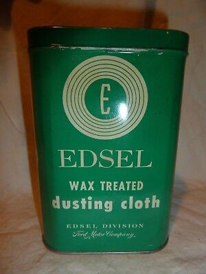 Edsel Dusting Cloth Wax Treated Can ~ Oil ~ Gas ~